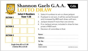 Club Lotto moving from ticket to envelope, Jackpot now €5,000